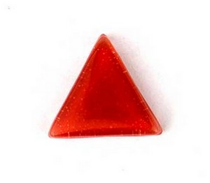 (1161105) MOSAIC TRIANGLES 30MM RED (10PK)