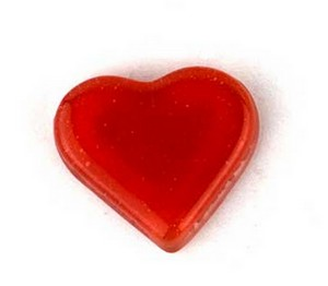 (1161145) MOSAIC HEARTS 24X26.5MM RED (10PK)