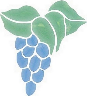 (1205GST104C) BLUE/GREEN GRAPES CLUSTER