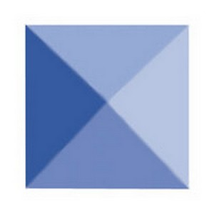 (12900109B) BLUE BEVEL 1X1 SQ