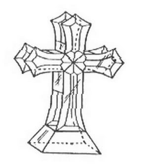 (14001) STANDING CROSS-3-D (4mm)