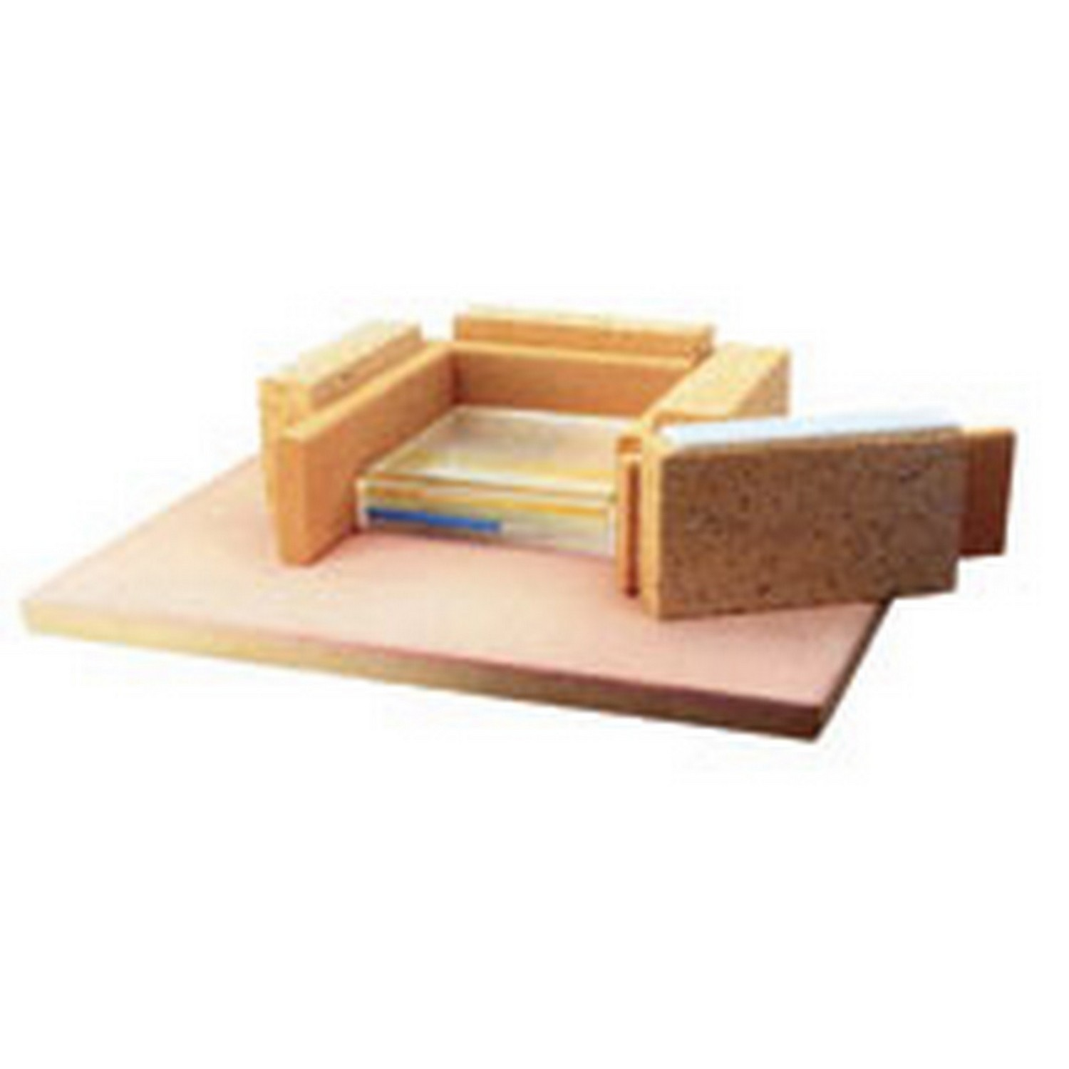 Shelf Paper, Fiber Blanket, Brick