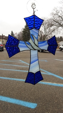 Stained Glass Cross With Dove Class