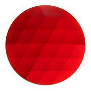 (3300) JEWEL-50mm ROUND-RED