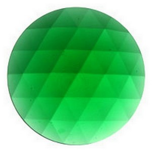 (3303) JEWEL-50mm ROUND-GREEN