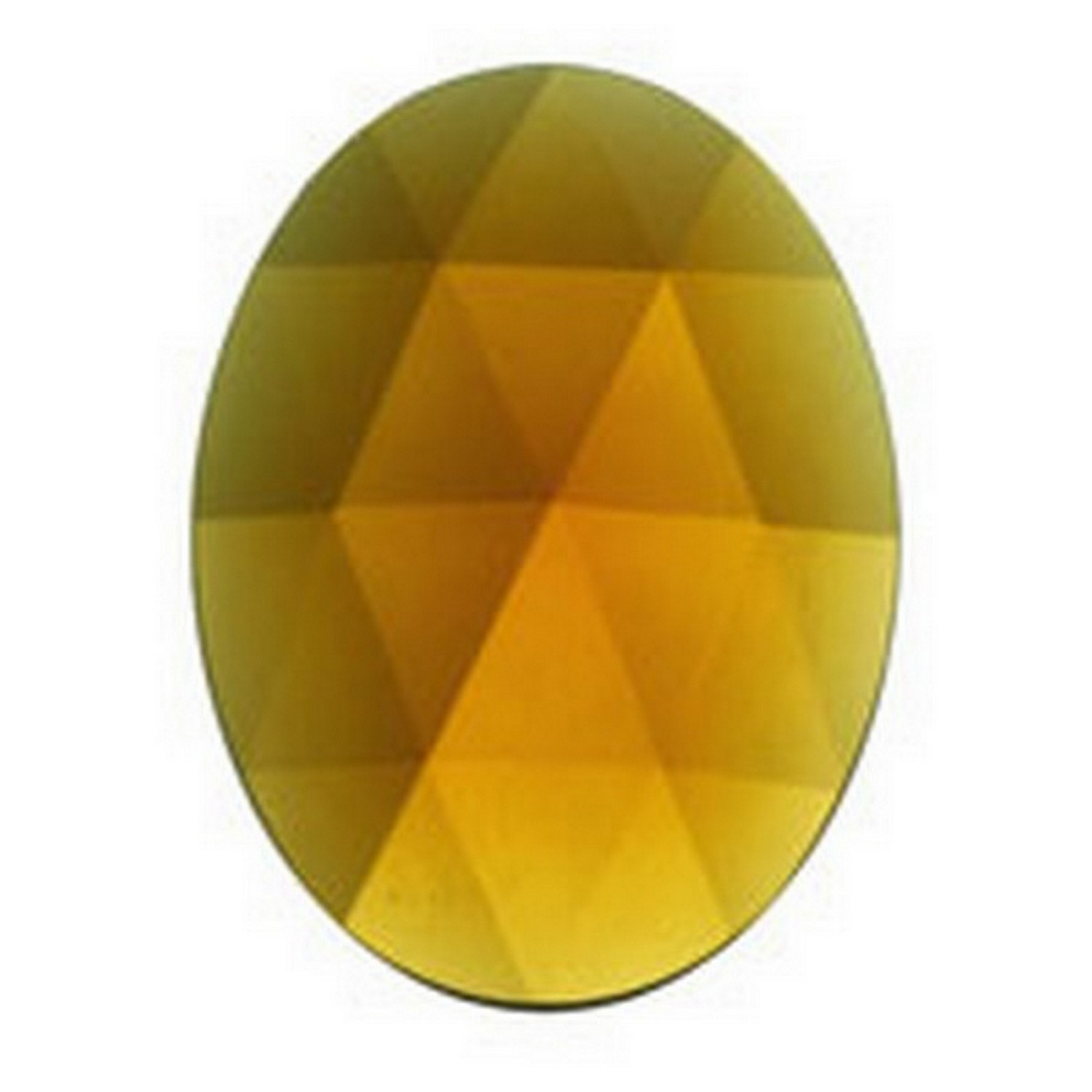 40mm Oval Faceted