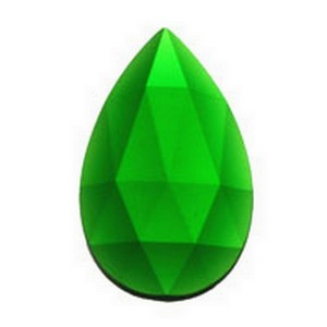 (3383) JEWEL-40x24mm-GREEN
