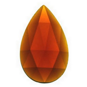 (3387) JEWEL-40x24mm-DARK AMBER