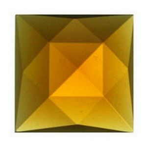 (34110) JEWEL-18mm SQUARE-LT AMBR