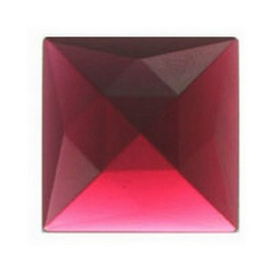 (34111) JEWEL-18mm SQ-GOLD/PINK
