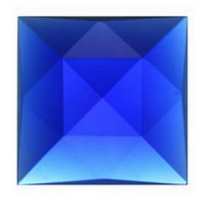 (3412) JEWEL-18mm SQUARE-DK BLUE
