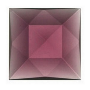 (3414) JEWEL-18mm SQ-AMETHYST