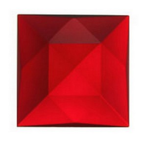 (3420) JEWEL-30mm SQUARE-RED