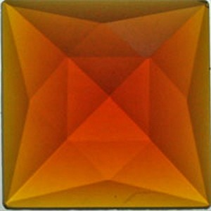 (34210) JEWEL-30mm SQ-LIGHT AMBER