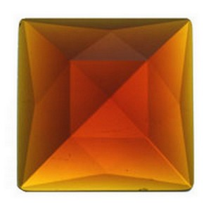 (3427) JEWEL-30mm SQ-DARK AMBER