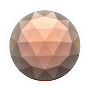 (34308) JEWEL-20mm ROUND-PEACH