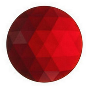 (3430) JEWEL-20mm ROUND-RED