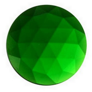 (3433) JEWEL-20mm ROUND-GREEN
