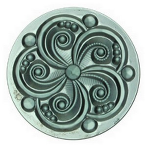 34514 - JEWEL-35mm SWIRL-STL BLUE