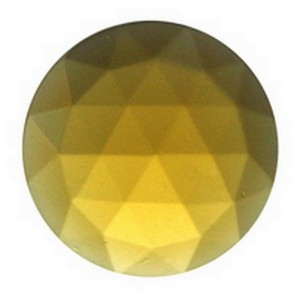 (34710) JEWEL-15mm ROUND-LT AMBER