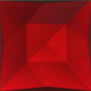 (3490) JEWEL-25mm SQUARE-RED