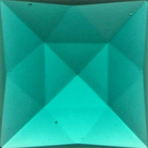 (34916) JEWEL-25mm SQUARE-TEAL