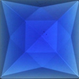 (3492) JEWEL-25mm SQUARE-DK BLUE