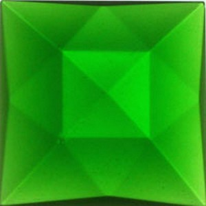 (3493) JEWEL-25mm SQUARE-GREEN