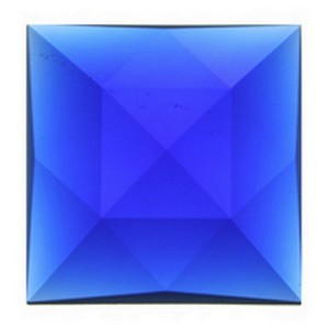 (3502) JEWEL-50mm SQUARE-DK BLUE