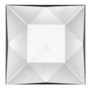 (3506) JEWEL-50mm SQUARE-CRYSTAL