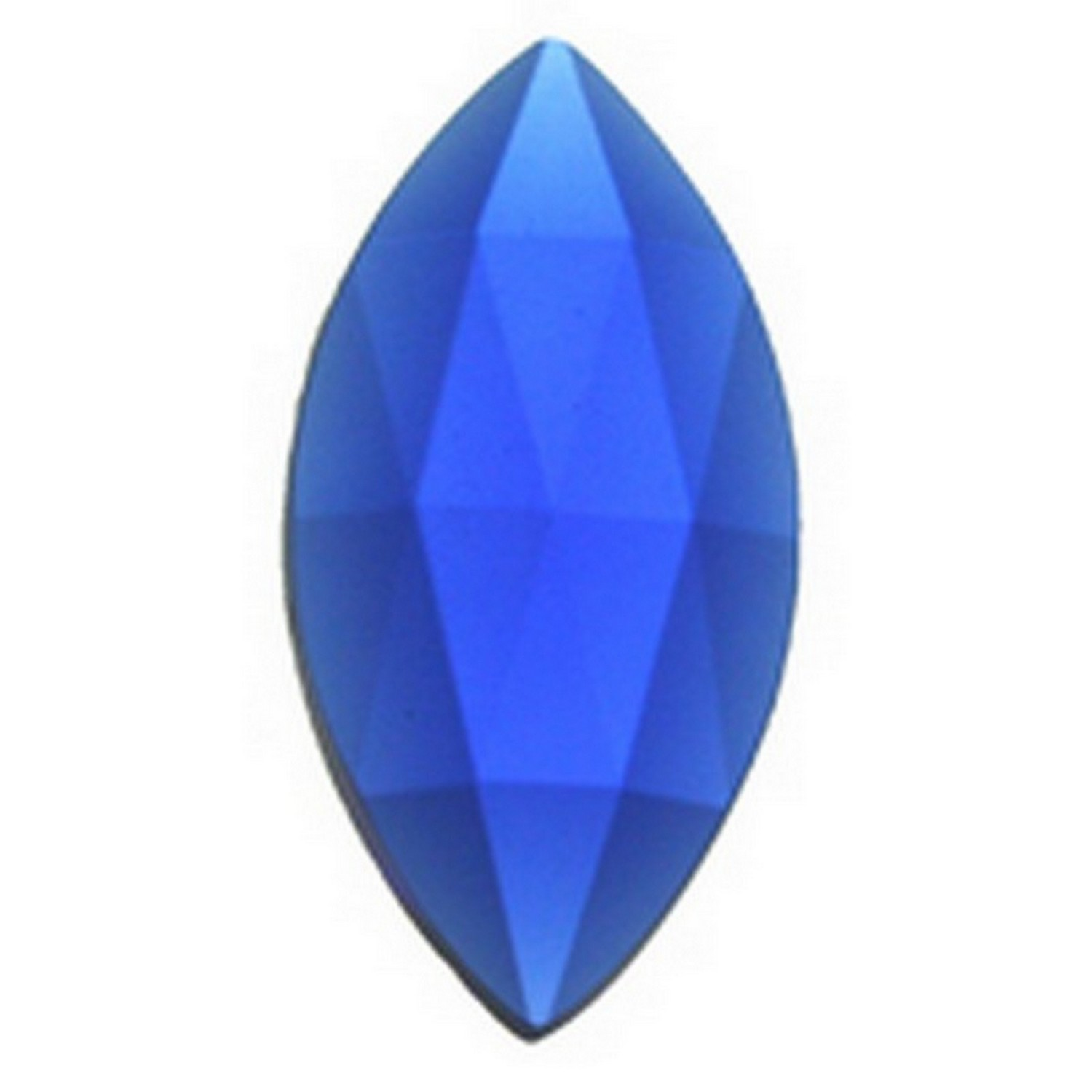 30mm Pointed Oval Faceted