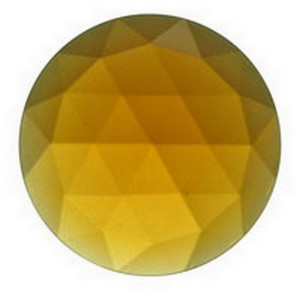 (35610) JEWEL-25mm ROUND-LT AMBER