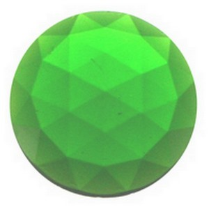 (3563) JEWEL-25mm ROUND-GREEN