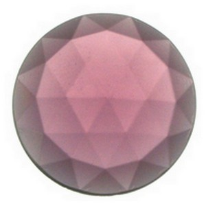 (3564) JEWEL-25mm ROUND-AMETHYST