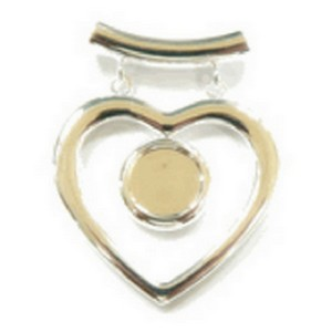 (484719) FANCY HEART SILVER PENDANT