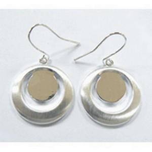 (484734) BRUSHED SILVER SATIN EARRINGS