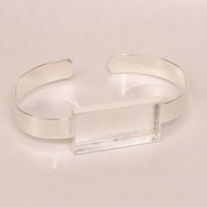 (48J111) DEEP WELL CUFF RECT SILVER