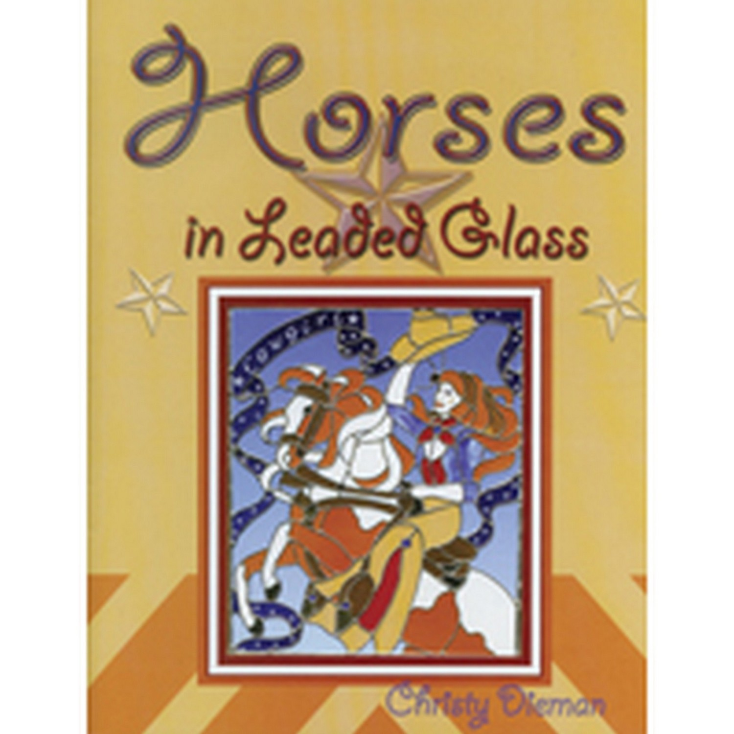(68091) HORSES IN LEADED GLASS
