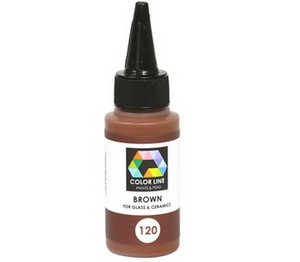 (74161) BULLSEYE COLOR LINE PAINT BROWN