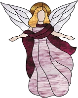 Stained Glass Angel 1001