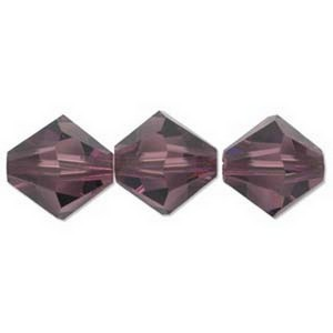 (H532806AMY) 6MM AMETHYST BICONE