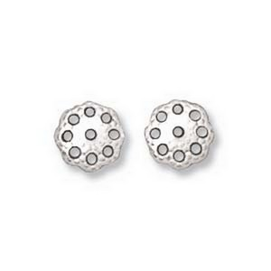 (HBC3605S) Bead Cap - Filigree White