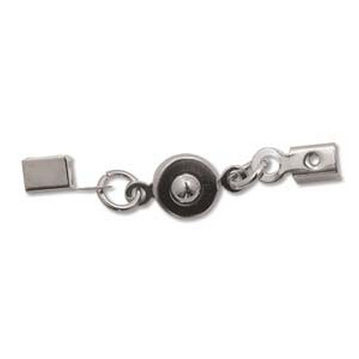 (HCLSP08SP) BALL AND SOCKET CLASP 7MM W/ FOLD OVER SLVR PLT-1/2 GR