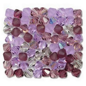 (HMC30206MIX01) BICONE 6MM LILACS