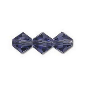 (HMC30206TAN) BICONE 6MM TANZANITE