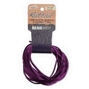 (HRTPU0-R) 1MM RATTAIL PURPLE