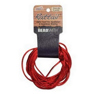 (HRTRE0-R) 1MM RATTAIL RED