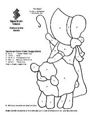 Free Stained Glass Pattern 2004-Bo Peep