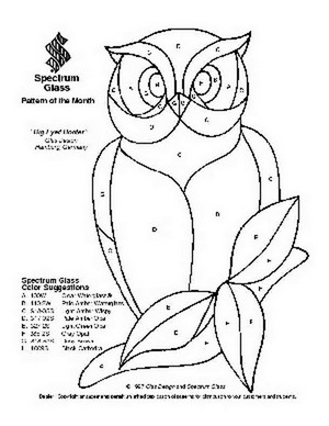 Free Stained Glass Pattern 2076-Big Eyed Hooter
