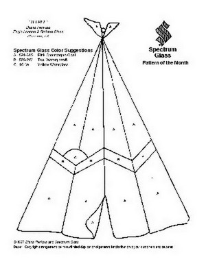Free Stained Glass Pattern 2079-Teepee